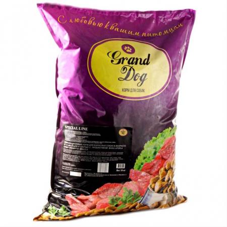 Grand Dog Полнорационный корм для взрослых собак в возрасте от 15 месяцев и старше с пробиотиком Basulifor-A супер-премиум класса (super-premium class)