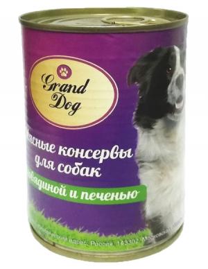 Корм для собак Grand Dog Мясные консервы для собак (говядина,печень)