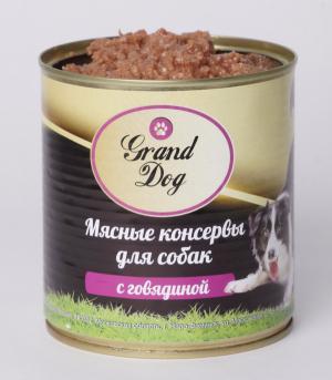 Корм для собак Grand Dog Мясные консервы  для собак (с говядиной)